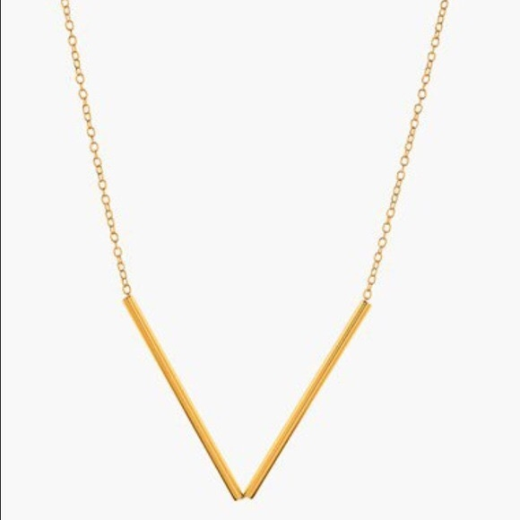 Gorjana jewelry bali tube v necklace in gold poshmark gorjana bali tube v necklace in gold aloadofball Image collections